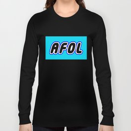 AFOL in Brick Font Logo Design [Alternate Colors] by Chillee Wilson Long Sleeve T-shirt