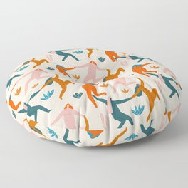 Nymphs pattern Floor Pillow