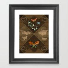 Fluttering Beauty Framed Art Print