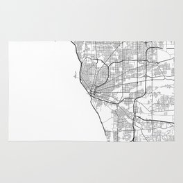 Minimal City Maps - Map Of Buffalo, New York, United States Rug