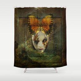 Surrealistic Venetian Mask Shower Curtain