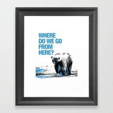 WHERE? Framed Art Print