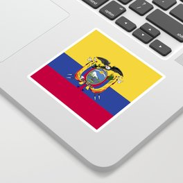 Ecuador flag emblem Sticker