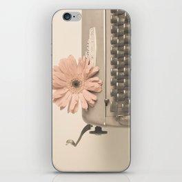 Soft Typewriter (Retro and Vintage Still Life Photography) iPhone Skin