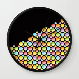 Rainbow Polka Dots Horizon Wall Clock