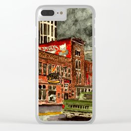 Nashville Tennessee Painting Clear iPhone Case