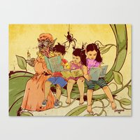 fairy tale Canvas Prints featuring Fairy Tale by Radical Ink by JP Valderrama