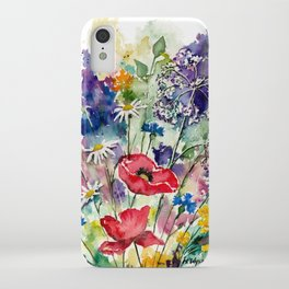 Spring Flowers Watercolour iPhone Case