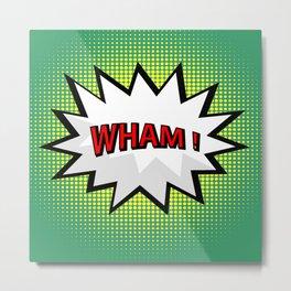 Wham comic burst in pop art style Metal Print