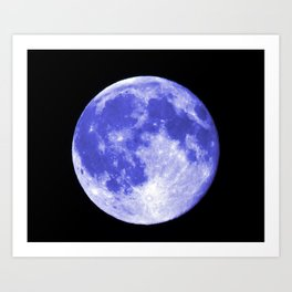 Blue Moon looks like Earth Art Print