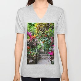 Dreamy Mexican Jungle Garden Unisex V-Neck