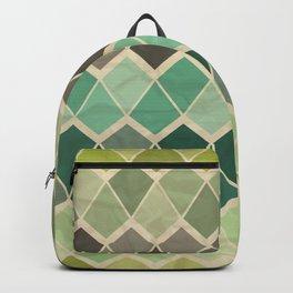 Retro Geometric Pattern Backpack