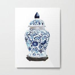 GINGER JAR NO. 4 PRINT Metal Print