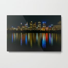 Sydney CBD at Night Metal Print