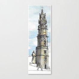 Torre dos Clérigos, Porto Canvas Print