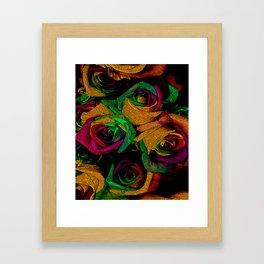 Funky Roses IV Framed Art Print