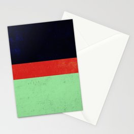 Navy, red and mint design Stationery Cards