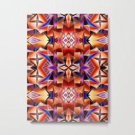 Teleport II - Fire Pattern Metal Print