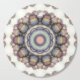 Abstract flowers mandala Cutting Board