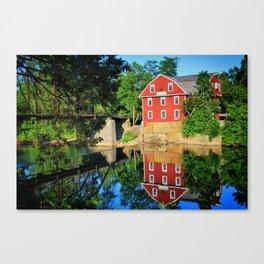 War Eagle Mill and Bridge - Arkansas Canvas Print
