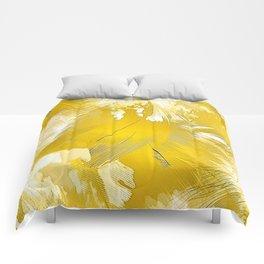 Golden Feathers Comforters