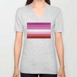 Lesbian Flag Unisex V-Neck