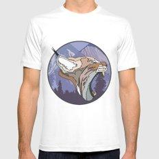⧓ Wild Rectangular Lynx ⧓ Mens Fitted Tee MEDIUM White