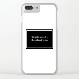 AUTHENIC SELF Clear iPhone Case