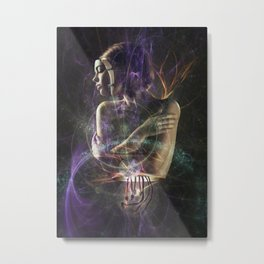 Abstract Fractal Android Metal Print
