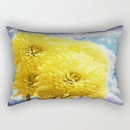 Textured Yellow Carnation Photography #2 Rectangular Pillow