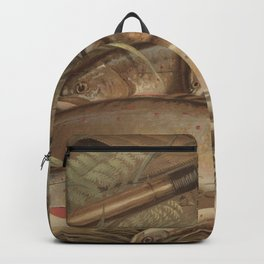 Vintage Painting of Caught Brook Trout (1868) Backpack