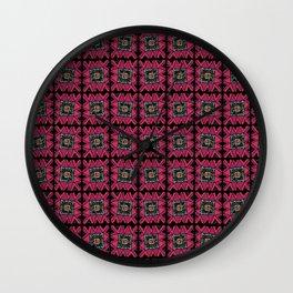 tribal squares Wall Clock