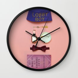 Keep Your Hands Off My Lobby Boy Wall Clock