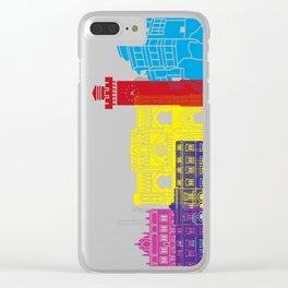 Cuenca skyline pop Clear iPhone Case