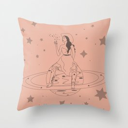 Janet From Another Planet Throw Pillow