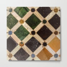 Arrayanes courtyard detais Alhambra Palace. Spain Metal Print