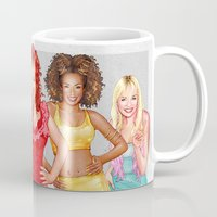 girl power Mugs featuring Girl Power by Mr. Gabriel Marques