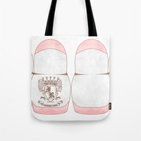 dentist Tote Bags featuring Matryoshka Teeth - Dentist Special by Rozenblyum Couture