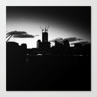 cityscape Canvas Prints featuring Cityscape by liberthine01