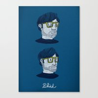 blink 182 Canvas Prints featuring Blink by Drew Brockington