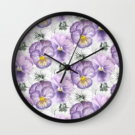 Pansy pattern Wall Clock