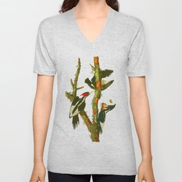 Ivory-billed Woodpecker Unisex V-Neck