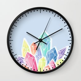 Crystals Blue Wall Clock