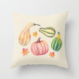 Autumn Gourds Throw Pillow