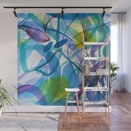 Hues of Blue Wall Mural