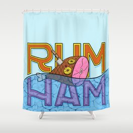 Rum Ham Shower Curtain