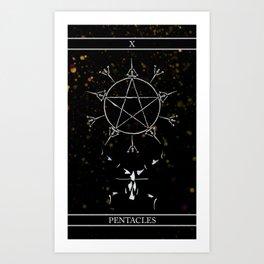 A Tarot of Ink 10 of Pentacles Art Print