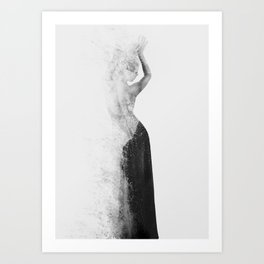 Inconspicuousness 2 (Black & White) Art Print