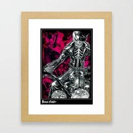 Skull rider Framed Art Print