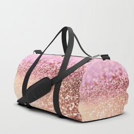 Mermaid Rose Gold Blush Glitter Duffle Bag